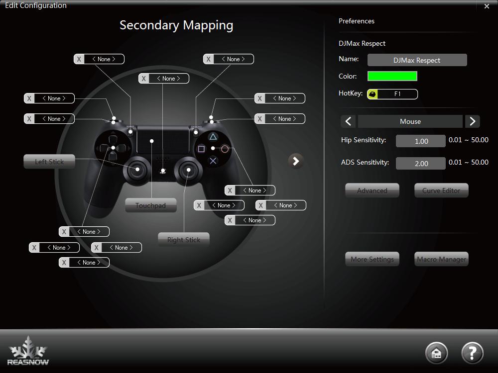 Secondary Mappingではキーを割り当てない